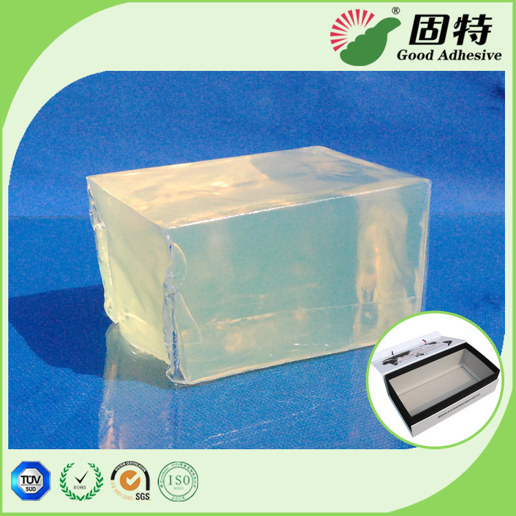 Light Transparent Yellow and semi-transparent Strong Block Hot Melt Glue Adhesive Packaging For Gift Box Bonding
