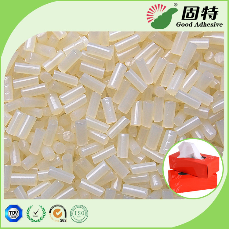 Yellowish Tissue Box Sealing Hot Melt Pellets EVA Hot Melt Adhesive