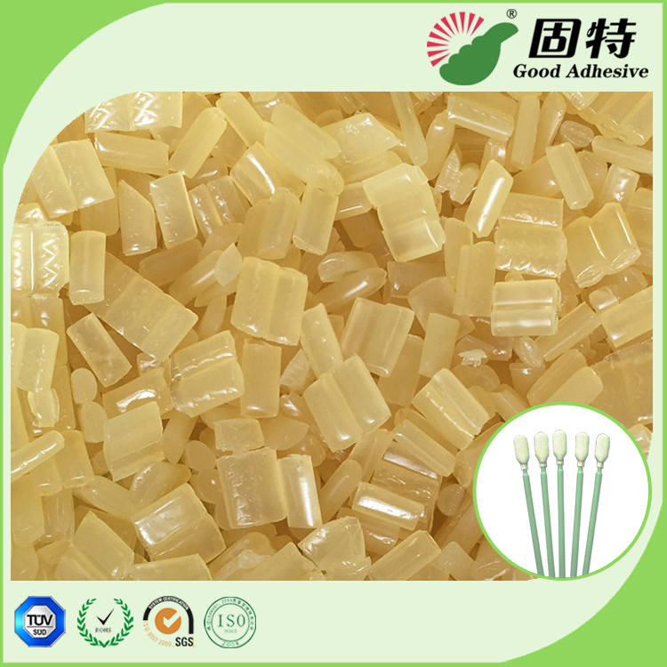 Yellow Block Industrial Hot Melt Glue , Disposable Cotton Swab Hot Melt Pellets