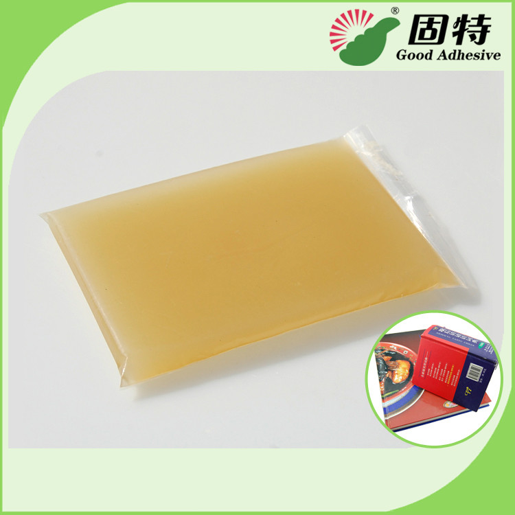 Light Amber Solid Gums Jelly Hot Melt Glue Adhesive For Hardcover Animal and Box
