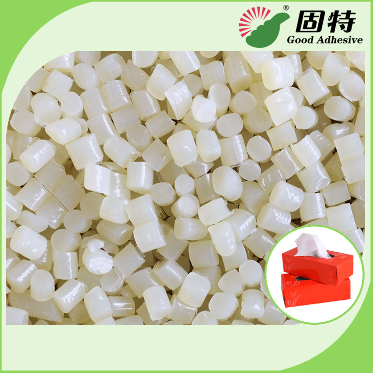 EVA Hot Melt Adhesive Pellets , Excellent High Temperature Glue Yellowish Granule